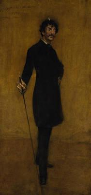 Whistler Painting - James Abbott Mcneill Whistler by William Merritt Chase