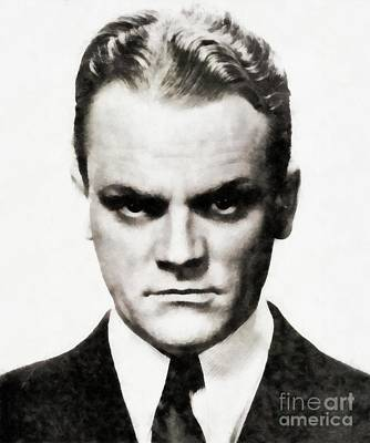 Recently Sold - Musicians Royalty Free Images - James Cagney, Vintage Actor Royalty-Free Image by Esoterica Art Agency