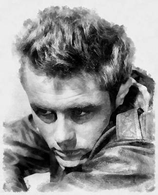 James Dean Painting - James Dean By John Springfield by John Springfield