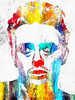 James Dean Mixed Media - James Dean Grunge by Daniel Janda