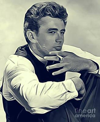 James Dean, Vintage Actor Art Print