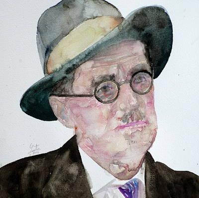 James Joyce - Watercolor Portrait Original