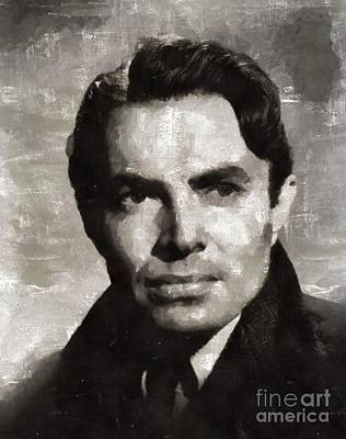 Elvis Presley Painting - James Mason Hollywood Actor by Mary Bassett
