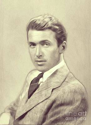 Recently Sold - Musicians Royalty Free Images - James Stewart, Actor Royalty-Free Image by Esoterica Art Agency