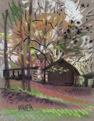 Pastel Barns Painting - James's Barn by Donald Maier