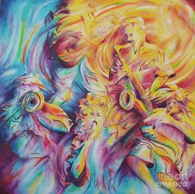 Painting - Jammin' by Jaswant Khalsa