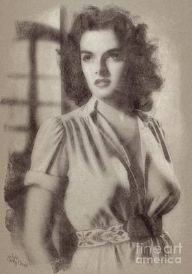 Bath Time - Jane Russell, Vintage Hollywood Actress by Esoterica Art Agency