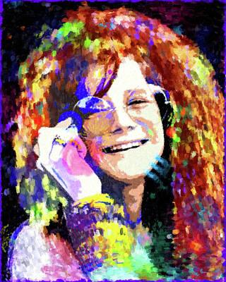 Painting - Janis Joplin by Gary Grayson