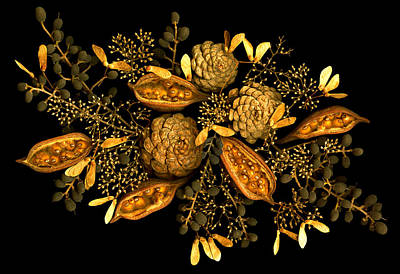 January Jewels Art Print by Marsha Tudor