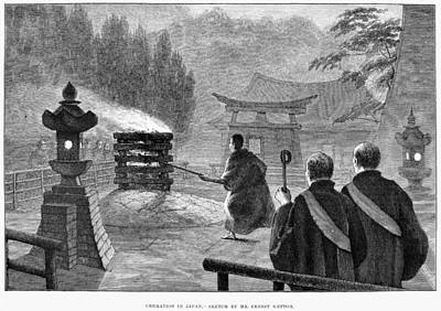Cremation Photograph - Japan: Cremation, 1890 by Granger