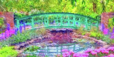 Digital Art - Japanese Footbridge At Phipps Conservatory 2 by Digital Photographic Arts