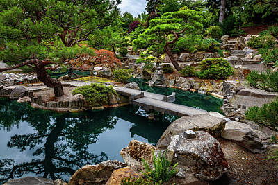 Vermeer Rights Managed Images - Japanese Garden 1 Royalty-Free Image by Mike Penney