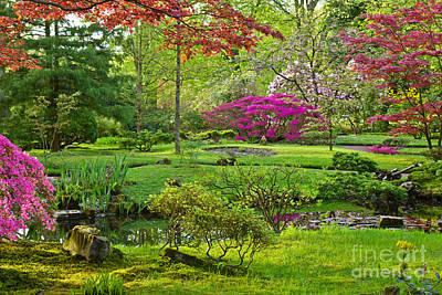 Japanese Garden Art Print by Anastasy Yarmolovich