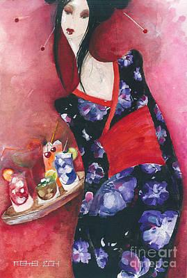 Painting - Japanese Girl by Maya Manolova