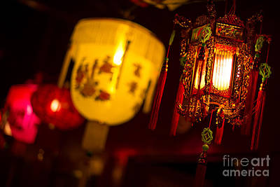 Photograph - Japanese Lanterns 6 by Steven Hendricks
