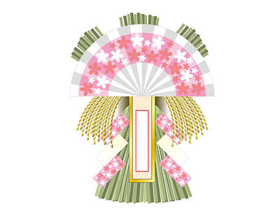 Digital Art - Japanese Newyear Decoration by Moto-hal
