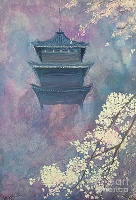 Japanese Spring Scene Art Print by Lizzy Forrester