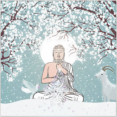 Digital Art - Japanese Winter by Harald Dastis