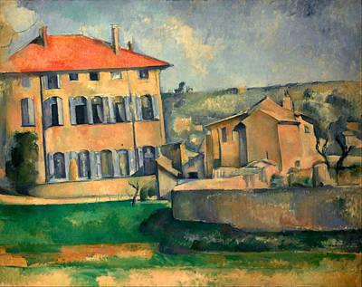 Construction Painting - Jas De Bouffan by Paul Cezanne