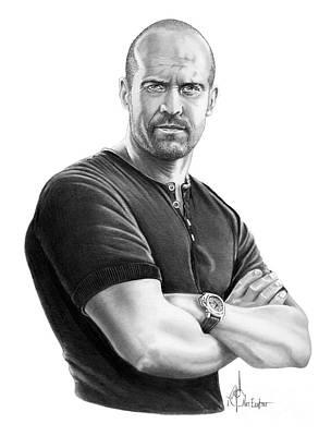 Drawing - Jason Statham by Murphy Elliott