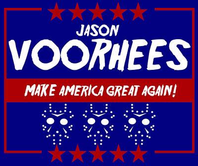 Digital Art - Jason Voorhees Presidential Sign by Kyle J West
