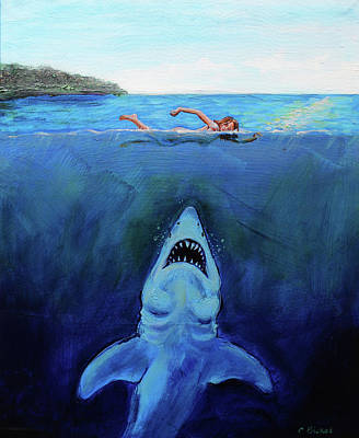 Painting - Jaws  Revisited by Charles Bickel