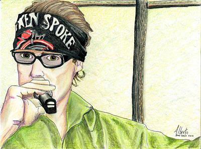 Jay Allen At The Broken Spoke Saloon Art Print by Albert Puskaric