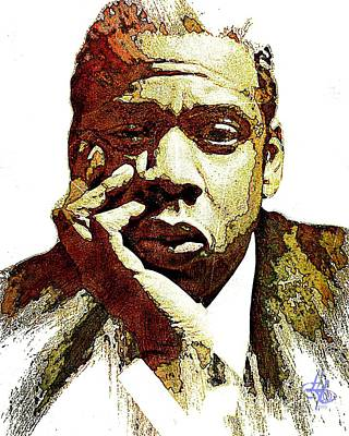 Digital Art - Jay-z by Lynda Payton