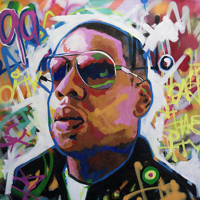 Painting - Jay Z by Richard Day