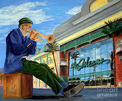 Jazz At The Orleans Art Print by Vicki  Housel