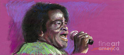 Musicians Painting - Jazz. James Brown. by Yuriy  Shevchuk