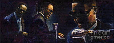 Jazz Legends Wall Art - Painting - Jazz Ray Charles by Yuriy Shevchuk