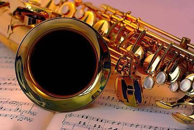 Photograph - Jazz Saxaphone by Louis Ferreira