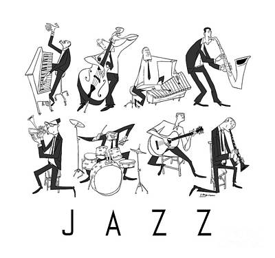 Jazz Wall Art - Digital Art - Jazz by Sean Hagan