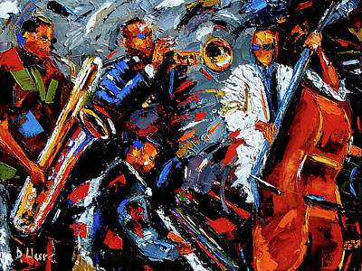 Wall Art - Painting - Jazz Unit by Debra Hurd