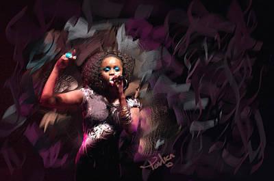 Jc Lady Sing Lady Sing Art Print by Donald Pavlica