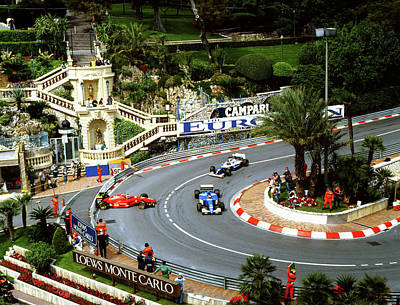 Photograph - Jean Alesi's Ferrari At Loews by John Bowers