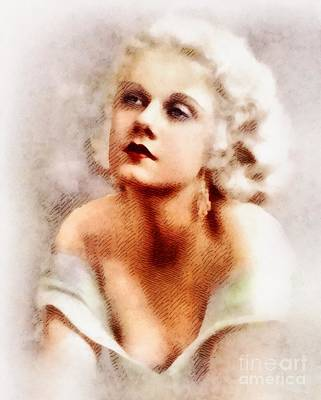 Jean Harlow, Vintage Actress By John Springfield Art Print