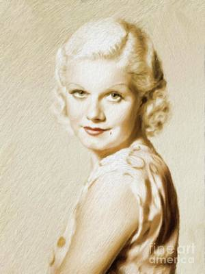 Jean Harlow, Vintage Actress Art Print