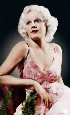 Jean Harlow Vintage Hollywood Actress Art Print