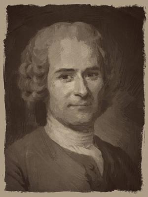 Jean Digital Art - Jean Jacques Rousseau by Afterdarkness
