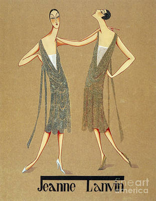 Jeanne Lanvin Design, 1925 Print by Science Source