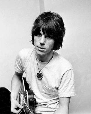 Jeff Beck 1966 Yardbirds Print by Chris Walter
