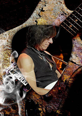 Mixed Media - Jeff Beck Guitarist Art by Marvin Blaine