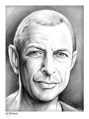 Drawing - Jeff Goldblum by Greg Joens