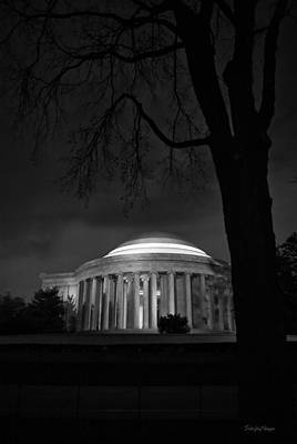 Jefferson Memorial At Night Art Print by Sanjay Nayar