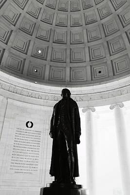 Photograph - Jefferson Memorial Statue by Brandon Bourdages