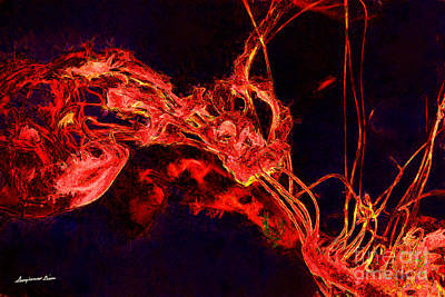 Digital Art - Jelly Fish Tango by Georgianne Giese