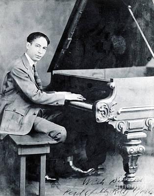 Jelly Roll Morton, American Jazz Art Print