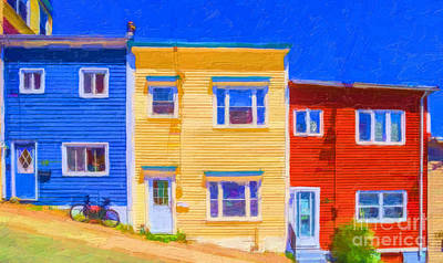 Digital Art - Jellybean Row St Johns Newfoundland by Liz Leyden